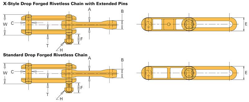 Drop Forged Chain : Drop forged rivetless chains on u s tsubaki inc