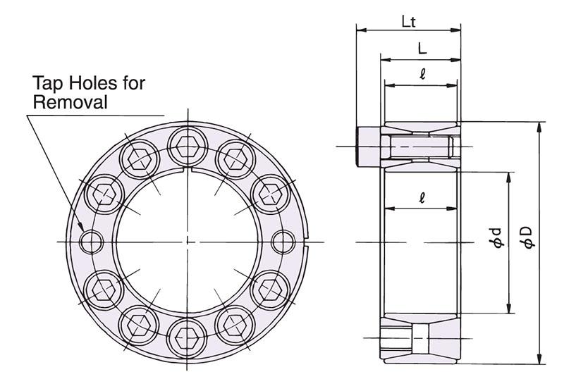 tsubaki wiring diagram power-lock as metric series carbon steel keyless locking ...