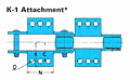 RF Conveyor Chain Basic Metric Series - K-1 Attachment