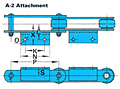 RF Conveyor Chain Basic Metric Series - A-2 (Welded) Attachment