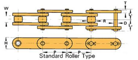 1 Pitch 0.312 Roller Diameter Riveted Tsubaki C2040TWRB Extended Pitch Conveyor Series Roller Chain Single Strand 595lbs Working Load Inch #2020 ANSI No. Carbon Steel 10ft Length 0.312 Roller Width