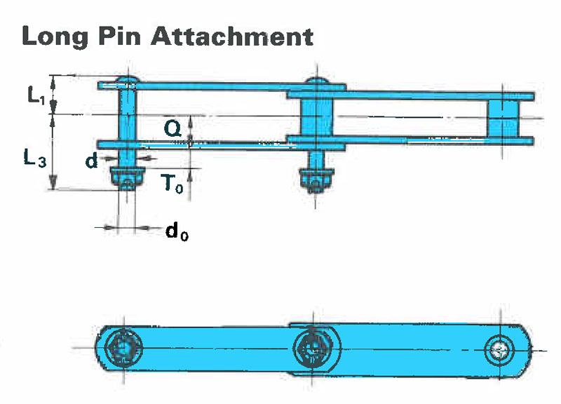 Heavy Duty Collector Chains Long Pin Attachment On U S