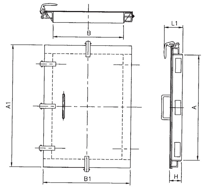 ... Large One-Touch Inspection Door-2  sc 1 st  US Tsubaki & Item # L1 Large One-Touch Inspection Door On U.S. Tsubaki Inc.
