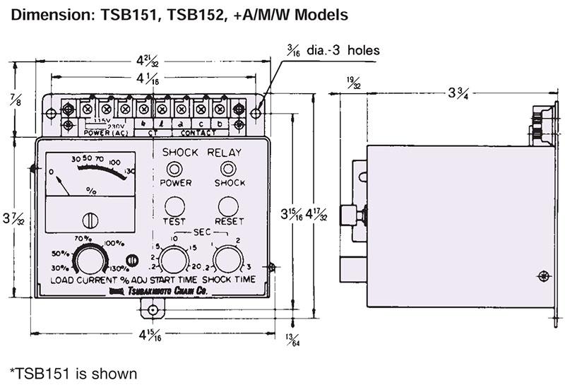 TSB151, TSB152 Shock Relay for Overload Protection On U S  Tsubaki Inc