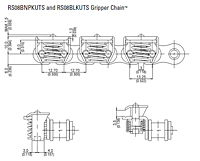 RS08BNPKUTS and RS08BLKUTS Gripper Chain