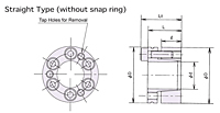 Power Lock RE-SS Without Snap Ring Series Keyless Locking Device-2