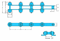 RF Conveyor Chains with Outboard Roller - 2