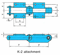 Bearing Bush Chains (RF Engineering Chain Series) - K2 Attachment