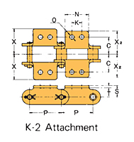 Double Pitch Attachment Chain K-2