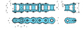 Nickel-Plated Single Strand Drive Lambda® Chains-2