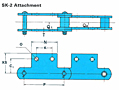RF Conveyor Chain Basic Metric Series - SK-2 Attachment