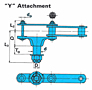 JAC Type Bar Screen Chains - Y Attachment