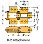 Double Pitch Conveyor Lambda Chain Attachment-K-2