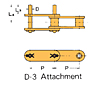 Double Pitch Attachment Chain D-3
